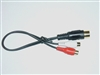 Peripheral Din to RCA Connection Aux Audio Cable for PXDX