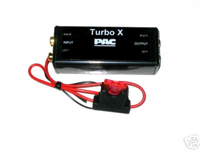 pac turbo x line driver w bass boost car stereo kits audio wiring rh autosoundcentral com Access Control Wiring Car Audio Amp Wiring