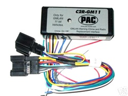 pac c2r gm11 radio replacement wire harness Amp Bypass Harness