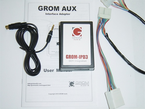 GROM-AUX-HON1 Honda/Acura 3.5mm Aux Audio In Adapter, Car Stereo ...