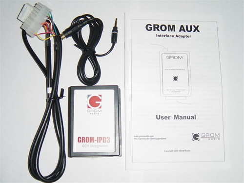 GROM-AUX-TOY-N Toyota/Lexus/Scion 3 5mm Aux Adapter