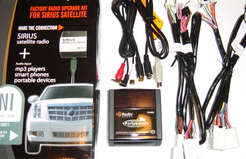 peripheral isimple isni11 sirius radio adapter w/aux, car stereo kits, audio  wiring harnesses, installation equipment, electronics