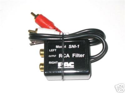pac sni 1 rca amplifier aux noise filter car stereo kits audio rh autosoundcentral com